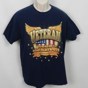 VETERAN PROUD TO HAVE SERVED Graphic T-shirt L g